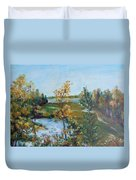 Fll At The Oyster River Duvet Cover