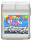 Floating Above Storm Clouds Duvet Cover