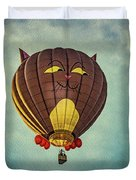 Floating Cat - Hot Air Balloon Duvet Cover