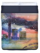 Floating City Duvet Cover