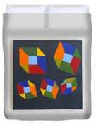 Floating Cubes 2 Duvet Cover