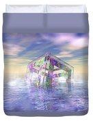 Floating Fractal Duvet Cover