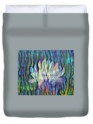 Floating Lotus - Birthday Blessings Duvet Cover