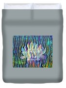 Floating Lotus - May We Live Like The Lotus Duvet Cover