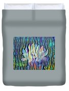 Floating Lotus - Peace In Our Lifetime Duvet Cover
