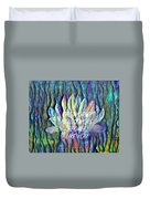 Floating Lotus - The World Needs You Duvet Cover