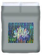 Floating Lotus - We Are One Duvet Cover