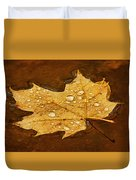 Floating Maple Leaf Txt Duvet Cover
