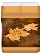 Floating Maple Leaves Pnt Duvet Cover