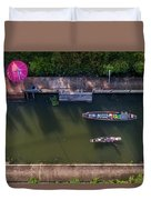 Floating Market Aerial View Duvet Cover by Pradeep Raja PRINTS