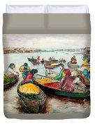 Floating Market Duvet Cover