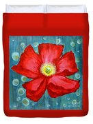 Floating Poppy Duvet Cover