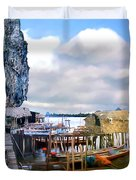 Floating Village Thailand Duvet Cover
