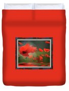 Floating Wild Red Poppies Duvet Cover