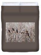 Flock Of Geese Duvet Cover