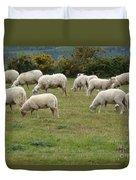 Flock Of Sheeps Duvet Cover