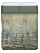 Flood In Giverny Duvet Cover
