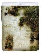 Flood Tide In The Salt Marsh Duvet Cover