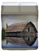 Flooded Barn Duvet Cover