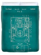 Floppy Disk Assembly Patent Drawing 1c Duvet Cover