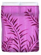 Flora Fauna Tropical Abstract Leaves Painting Magenta Splash By Megan Duncanson Duvet Cover