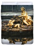 Flora Fountain - Palace Of Versailles Duvet Cover