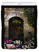 Floral Adorned Doorway Duvet Cover
