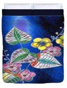 Floral Art Illustrated Duvet Cover