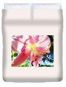 Floral Art Print Pink Summer Lily Flower Lilies Baslee Troutman Duvet Cover