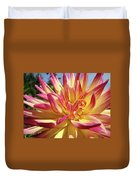 Floral Art Prints Bright Dahlia Flower Canvas Baslee Troutman  Duvet Cover
