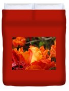 Floral Art Prints Orange Rhodies Rhododendrons Baslee Troutman Duvet Cover