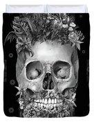 Floral Beard Skull 3 Duvet Cover