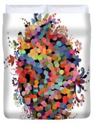 Floral Bouquet Abstract With Dots Duvet Cover