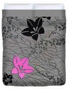 Floral Chirimen Duvet Cover