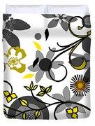 Floral Collision Duvet Cover
