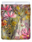 Floral Cosmos Duvet Cover