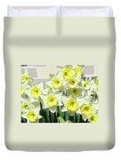 Floral Daffodils Garden Art Prints Floral Bouquet Baslee Troutman Duvet Cover