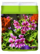 Floral Design 5 Dark Duvet Cover