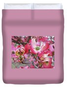 Floral Dogwood Tree Flowers Baslee Troutman Duvet Cover
