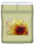 Floral Fine Art Dahlia Flower Yellow Red Prints Baslee Troutman Duvet Cover