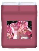 Floral Fine Art Prints Pink Rhodie Flower Baslee Troutman Duvet Cover