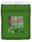 Floral Forest Floor Duvet Cover