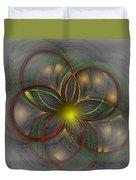 Floral Fractal 11-24-09 Duvet Cover