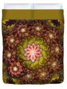 Floral Fractal Wreath  Duvet Cover