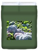 Floral Garden Art Prints Blud Hydrangea Flowers Duvet Cover