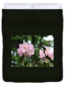 Floral Garden Pink Rhododendron Flowers Baslee Troutman Duvet Cover