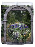 Floral Garden View Duvet Cover
