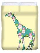 Floral Giraffe Duvet Cover