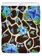 Floral Giraffe Print Duvet Cover