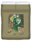 Floral Green Vase Duvet Cover